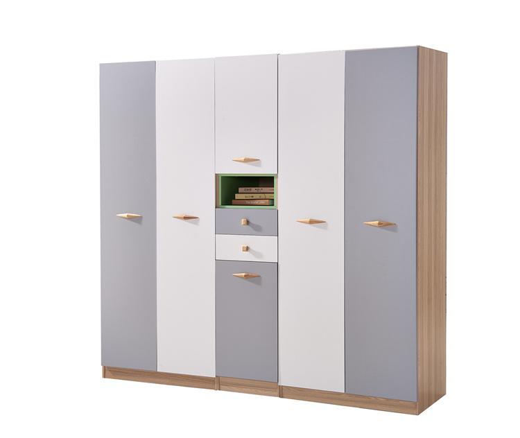 对开门彩色板式衣柜02-5