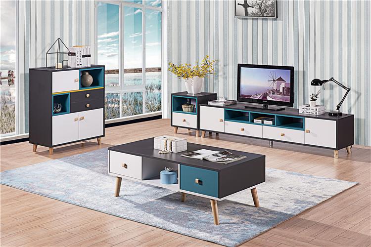 板式电视柜+茶几组合02-2