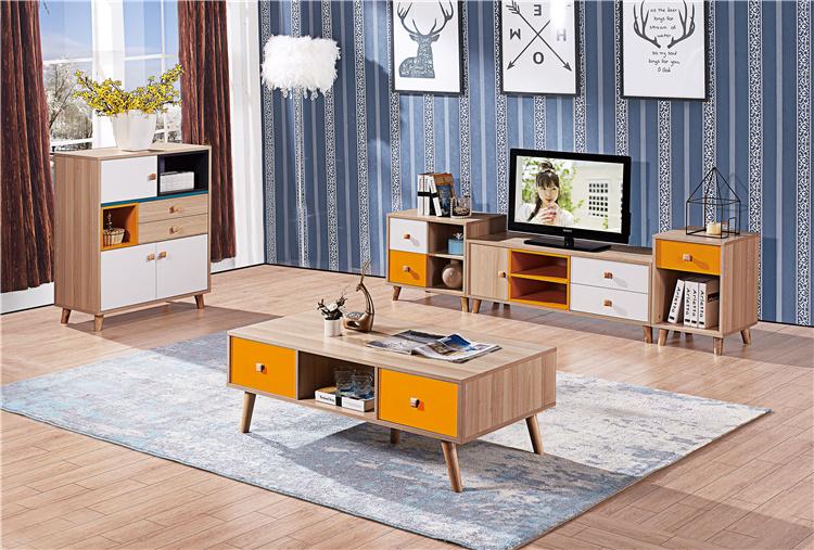 板式电视柜+茶几组合01-2